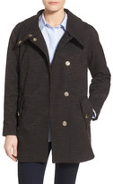 Eliza J Textured Cotton Blend Boyfriend Coat