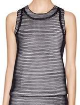 Calvin Klein Women's Mesh Tank Top (4, Black)