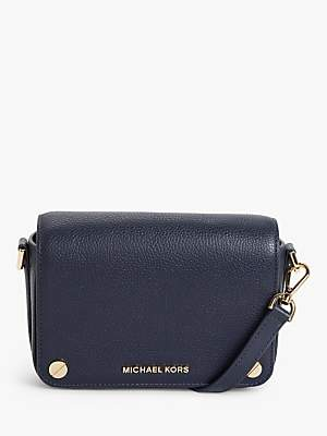 Michael Kors MICHAEL Small Jet Set Leather Cross Body Bag, Admiral