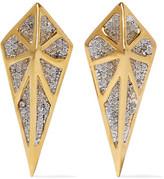 Noir Hidden Gold-Tone Crystal Earrings