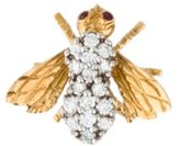 Herbert Rosenthal Ruby & Diamond Bee Pin