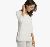 Johnston & Murphy Slub/Knit Mixed-Media Top