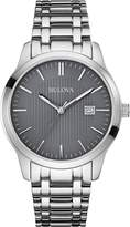 Bulova 96B224 Classic Stainless Steel Grey Dial Men's Watch
