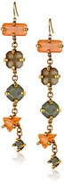 Erickson Beamon Rocks Gold-Plated Six Stone Drop Earrings