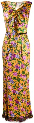 Nina Ricci Pre Owned Floral Print Dress