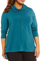 Westbound Plus Cowl Neck Solid Pullover