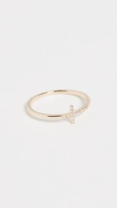 Sydney Evan 14k Gold Bent Cross Ring