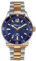 Salvatore Ferragamo 1898 Two-Tone Sport Watch, Blue