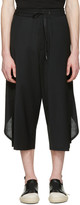 D.gnak By Kang.d Black Overlapped Back Trousers