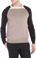 Armani Collezioni Color Block Raglan Sweater