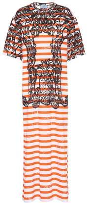 Prada Printed cotton dress