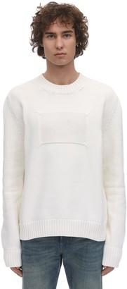 Maison Margiela Oversized Logo Cotton Blend Sweater