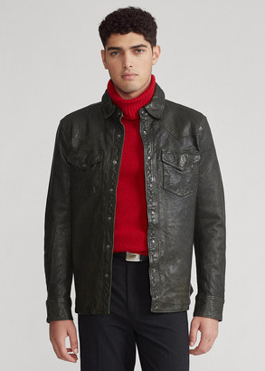 Ralph Lauren Washed Leather Shirt Jacket