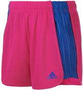 adidas Neon Pink The Block Drawstring Shorts - Girls