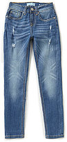 7 For All Mankind Big Girls 7-14 Distressed Skinny Jeans