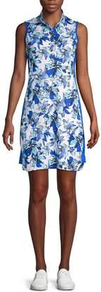 Tail Floral-Print Golf Dress