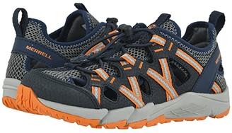 Merrell Hydro Chop Rock Shandal (Toddler/Little Kid/Big Kid) (Navy/Grey/Orange) Boy's Shoes