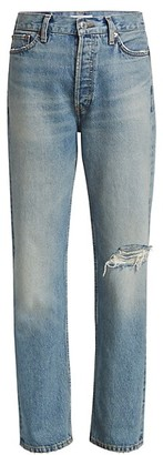 RE/DONE Loose-Fit Distressed Straight-Leg Jeans