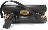 Mark Cross Grace Small Textured-leather Box Shoulder Bag - Black