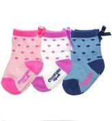 Osh Kosh Baby Girl / Toddler Girl 3-pk. Heart & Ribbon Crew Socks
