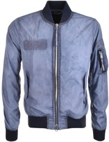 True Religion Bomber Windbreaker Jacket Blue