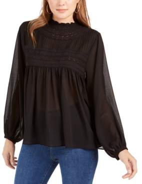 Band of Gypsies Charmante Lace-Trim Top