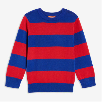 Joe Fresh Toddler Boys' Stripe Sweater, Dark Red (Size 5)