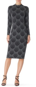 INC International Concepts Inc Long-Sleeve Fitted Midi Dress, Created for Macy's