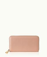GiGi New York Large Zip Around Wallet Full Grain Leather