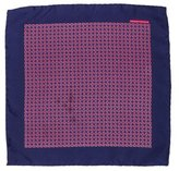 Hermes Geometric Print Silk Pocket Square