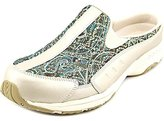 Easy Spirit Traveltime Women Round Toe Canvas Silver Mules