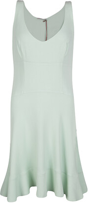 Ermanno Scervino Mint Green Sleeveless Fit and Flare Dress M