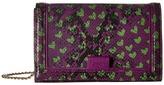 Moschino Python and Hearts Print Crossbody Cross Body Handbags
