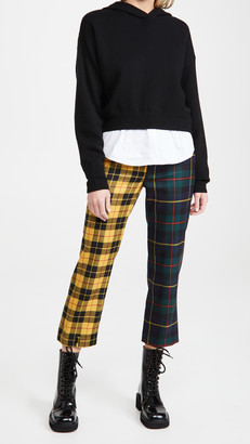Monse Multi Tartan Upside Down Skinny Leg Trousers