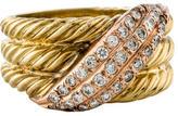David Yurman 14K Diamond Cable Ring