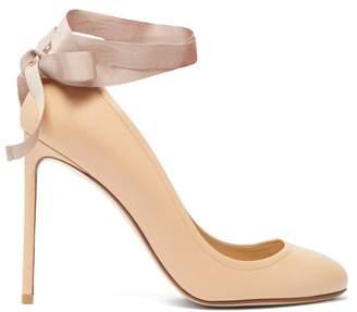 Francesco Russo Ballet Grosgrain Ribbon Leather Pumps - Womens - Nude