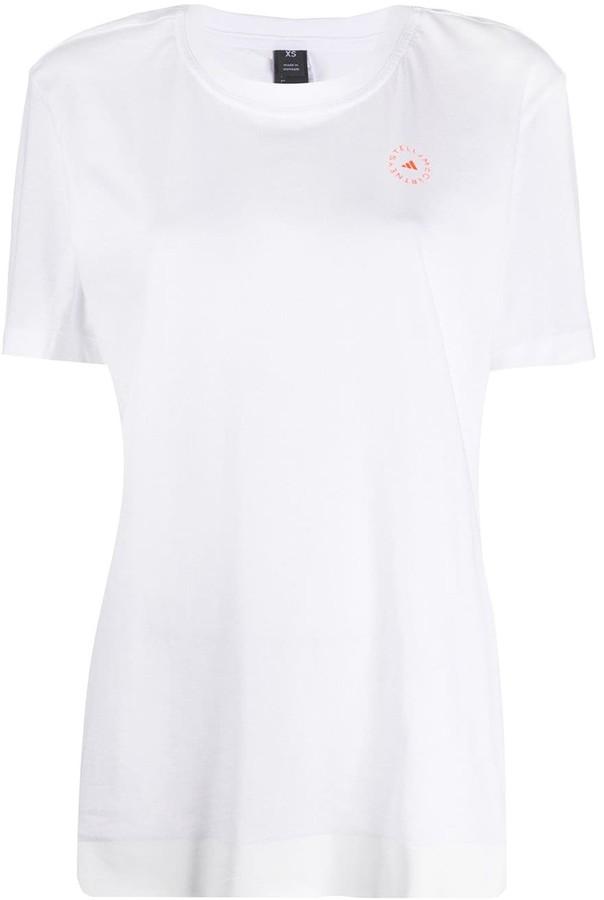 adidas by Stella McCartney logo print short-sleeve T-shirt