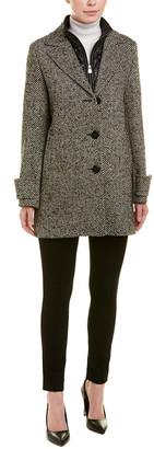 Cinzia Rocca Icons Removable Bib Wool-Blend Coat