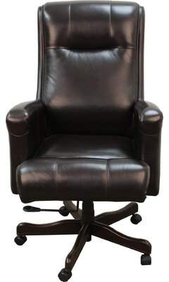 Canora Grey Baughman Ergonomic Genuine Leather Executive Chair Canora Grey