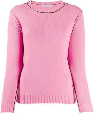 Blumarine contrast stitch jumper