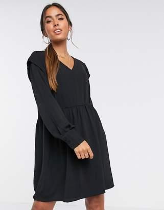 Vero Moda mini dress with v neck in black