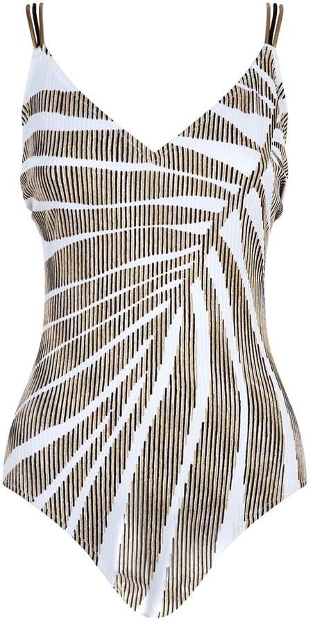 Gottex Leaf Print Swimsuit