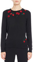 Altuzarra Harding Fruit-Embroidered Sweater, Black
