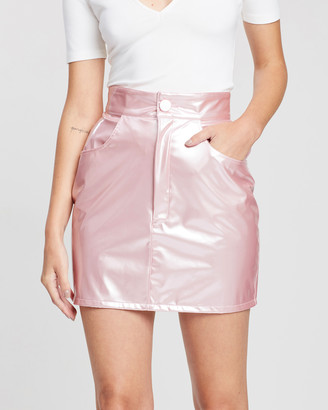 Michael Lo Sordo Mini PU Skirt