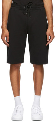 McQ Black Swallow Skull Shorts
