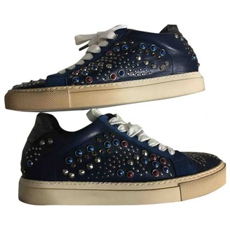 Zadig & Voltaire Blue Leather Trainers