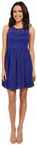 Jessica Simpson Floral Lace Fit and Flare Dress JS6D8645