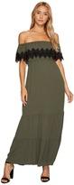 Romeo & Juliet Couture Off Shoulder Lace Trim Long Dress