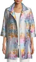 Caroline Rose Ombré Rose Jacquard Party Jacket, Plus Size