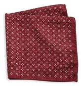 Saks Fifth Avenue COLLECTION Silk Floral & Polka Dot Pocket Square